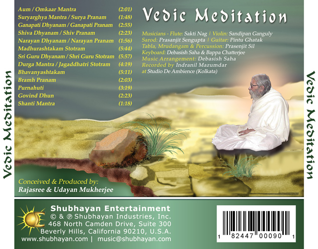 Vedic Meditation - Back Cover
