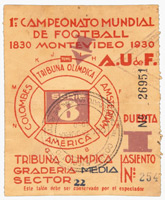 World Cup 1930 Ticket