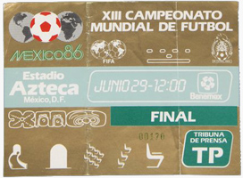 World Cup 1986 Ticket
