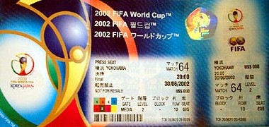 World Cup 2002 Ticket