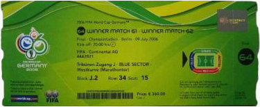 World Cup 2006 Ticket